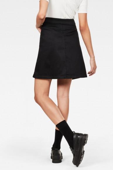Sukňa - G-STAR 5621 Wrap Skirt čierna