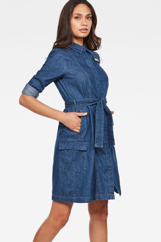 Šaty - G-STAR Bristum service dress modré