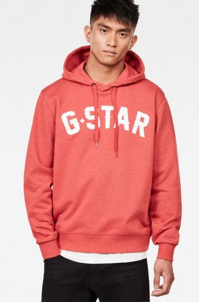 Mikina - G-STAR Halgen core hooded sw l s ružová ... a240434127c