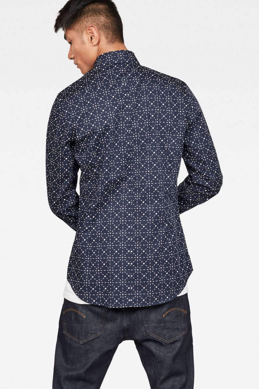Košeľa - G-STAR Core super slim shirt ls modrá