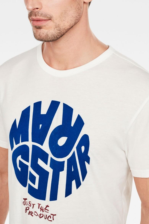 Tričko - G-STAR Graphic 6 r t ss smotanové