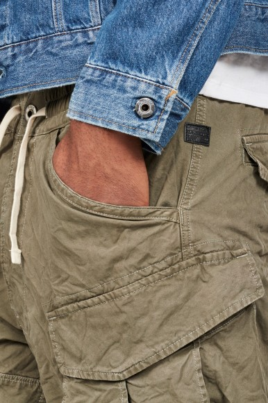 Krátke nohavice - G-STAR Rovic x-relaxed trainer 12 hnedo-zelené