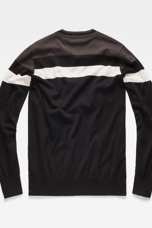 Sveter - G-STAR Sport stripe r knit ls viacfarebný