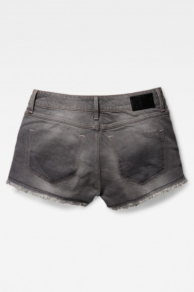 Krátke nohavice - G-STAR 3301 rp Mid bf Short Wmn - šedá