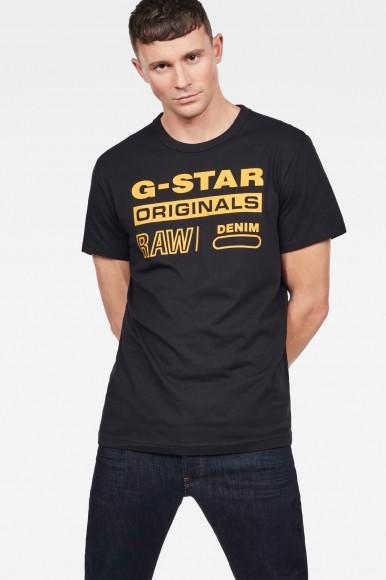 Tričko - G-STAR Swando graphic regular r t ss čierne
