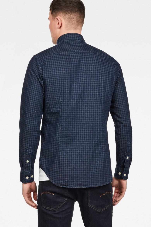 Košeľa - G-STAR Core btn down 1pkt slim shirt ls zafírovo modrá
