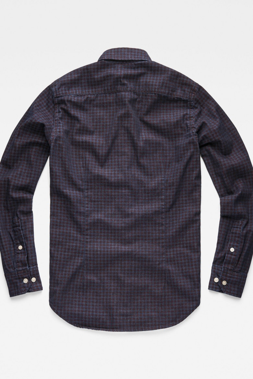 Košeľa - G-STAR Core btn down 1pkt slim shirt ls fialovomodrá
