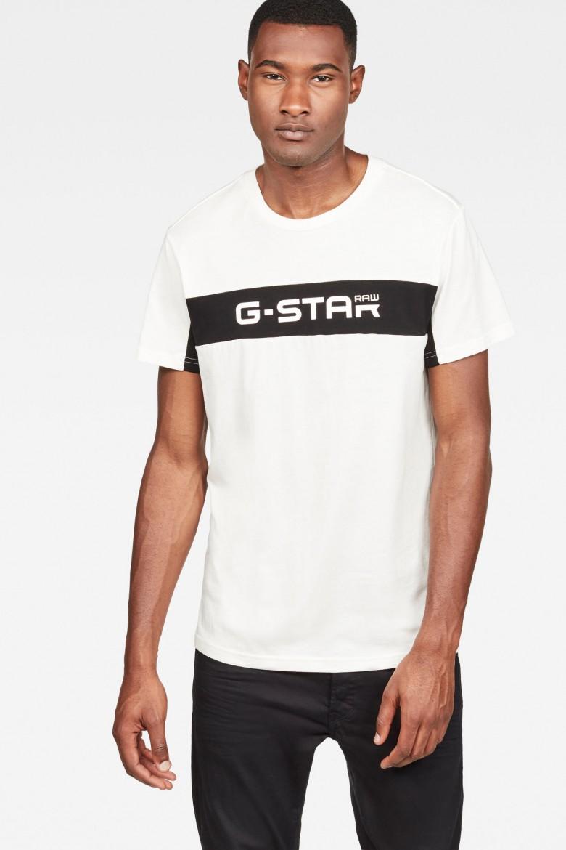 Tričko - G-STAR Graphic 80 r t ss biele