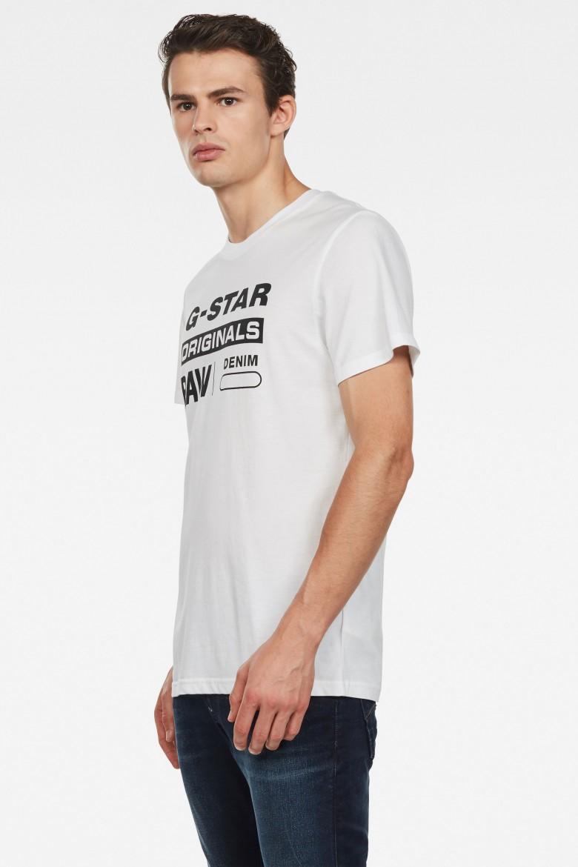 Tričko - G-STAR Graphic 8 r t ss biele