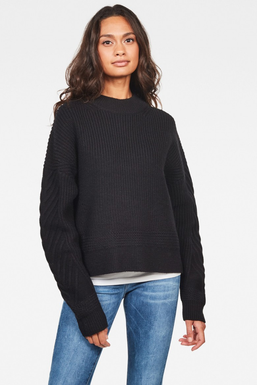 Sveter - Weet r knit wmn l\s čierny