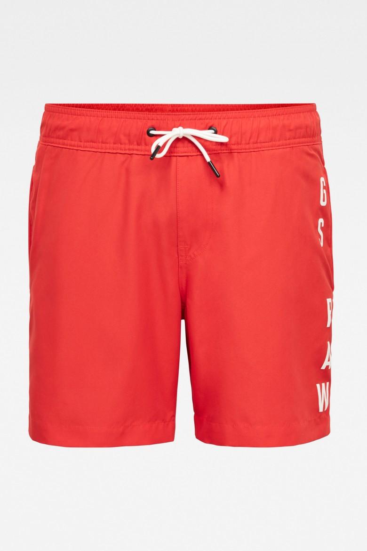 Plavky - Dirik solid aw swimshort červené