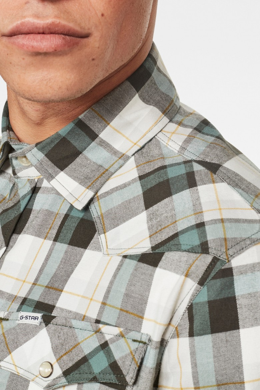 Košeľa - 3301 slim shirt l\s károvaná