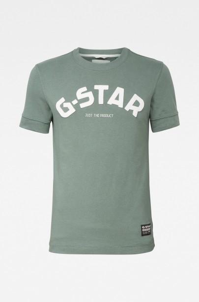 Tričko Felt Applique Logo Slim R T S\S modré