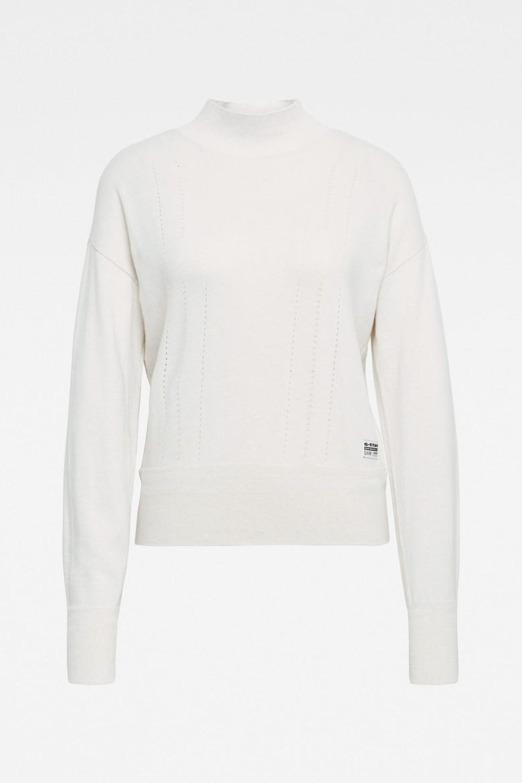 Sveter - Core mock knit wmn l\s biely