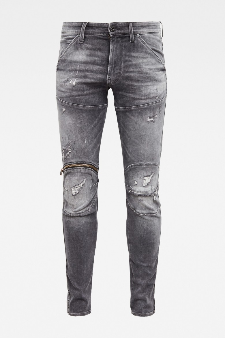 Rifle - 5620 3D Zip Knee Skinny Originals šedé