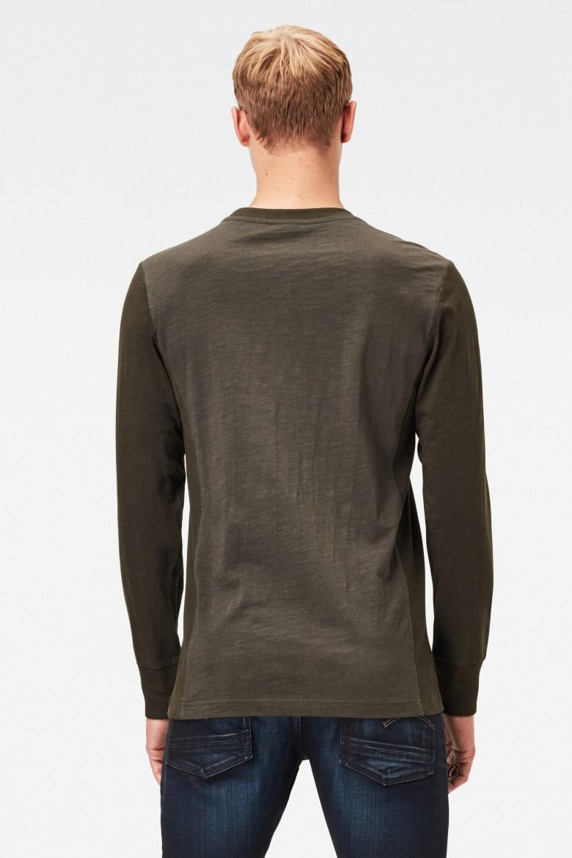 Tričko Motac logo r t l\s šedohnedá