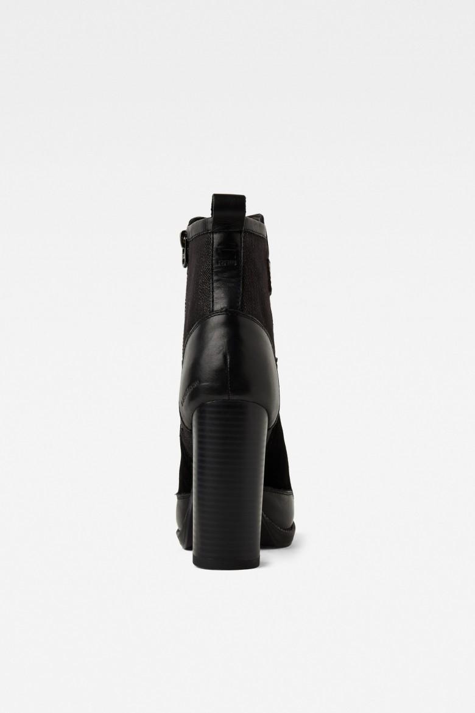 Členkové čižmy Labour Zip čierna