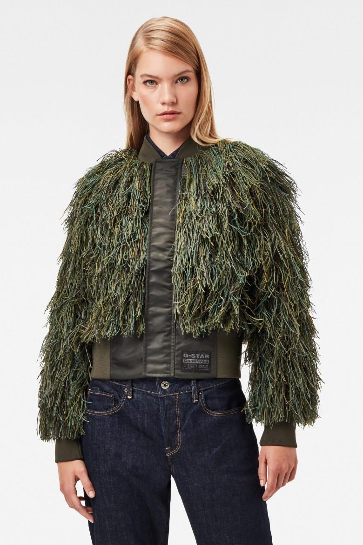 Bunda - Gillie suit bomber wmn zelená