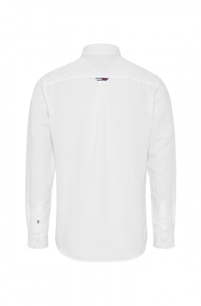 Pánska košeľa TJM LINEN BLEND SHIRT bielej farby