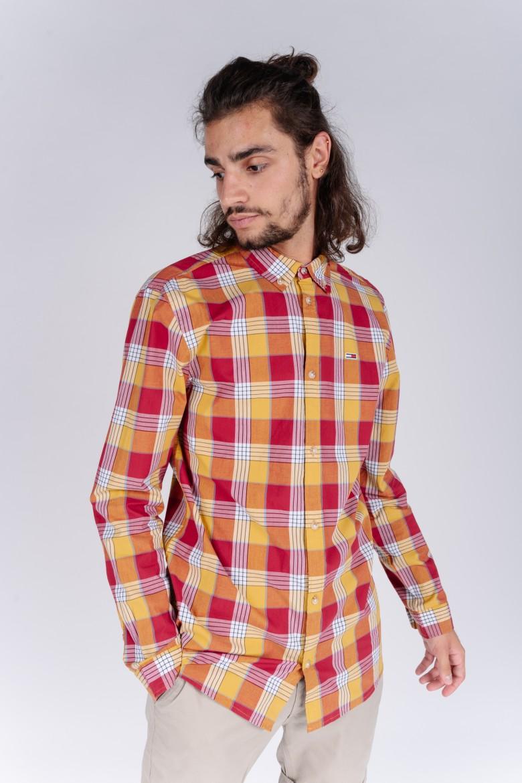 Košeľa - TJM ESSENTIAL POPLIN CHECK károvaná