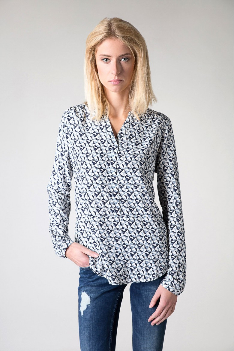Blúzka Hilfiger Denim THDW BASIC VISCOSE BLOUSE L/S 10