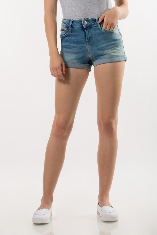 Krátke nohavice - TOMMY HILFIGER CLASSIC DENIM SHORT modré