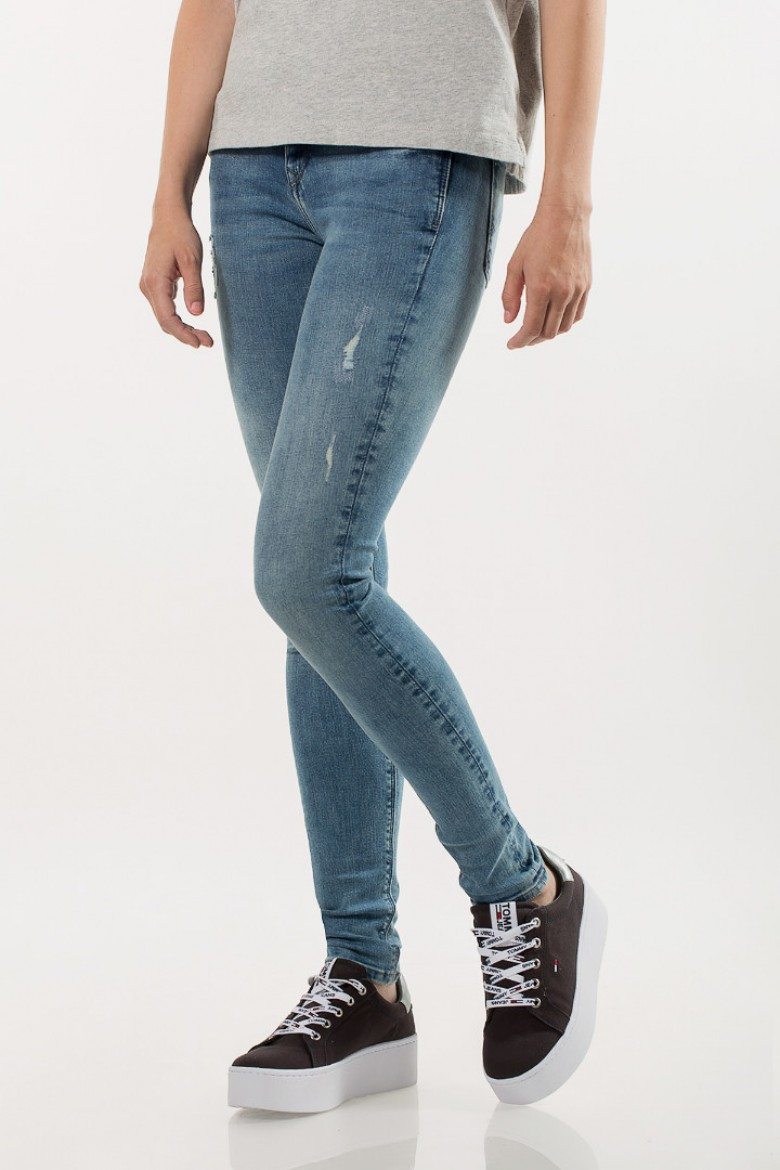 Rifle - TOMMY HILFIGER MID RISE SKINNY NORA modré