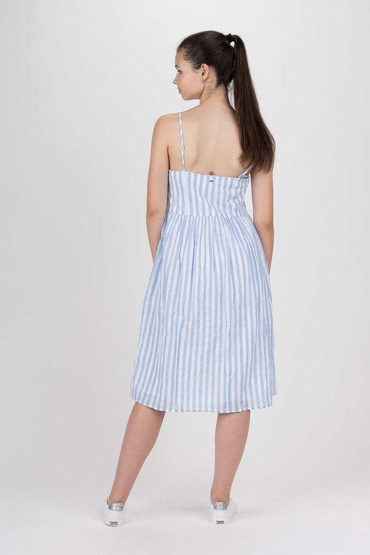 Šaty - TOMMY HILFIGER TJW SUMMER STRIPE STRAP DRESS svetlomodro-biele