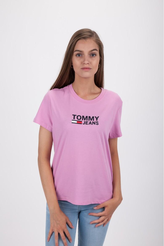 Tričko - TOMMY HILFIGER TJW CORP LOGO TEE ružová