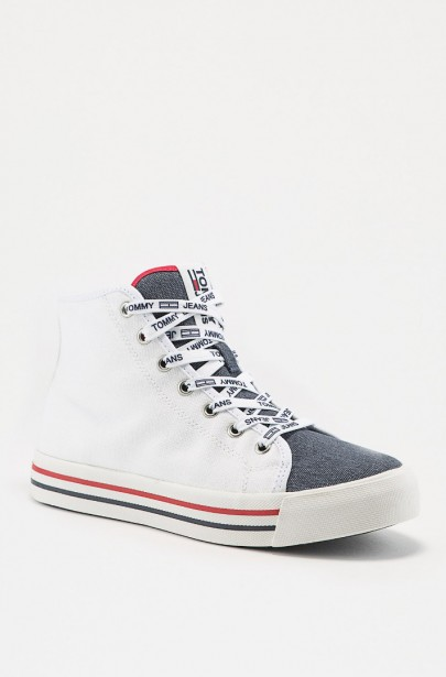 ... Tenisky - TOMMY HILFIGER TOMMY JEANS CASUAL MID CUT biele 8600eb65919
