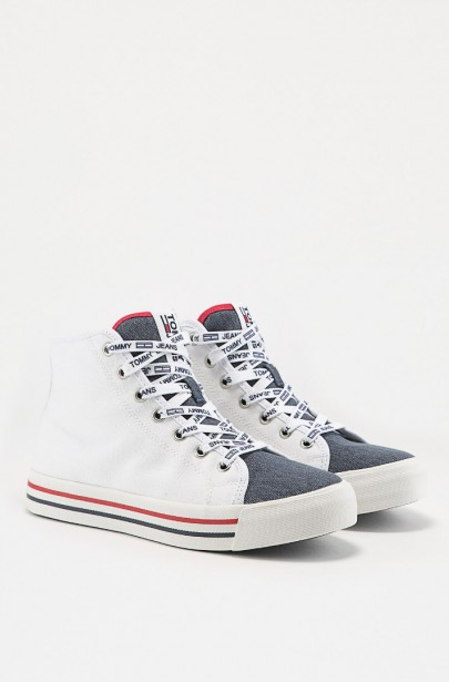 Tenisky - TOMMY HILFIGER TOMMY JEANS CASUAL MID CUT biele ... 9dfedb01af5