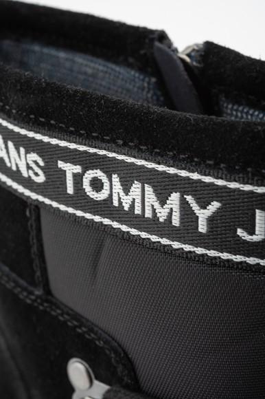 Členkové topánky - TOMMY HILFIGER HIKING HYBRID BOOT čierne