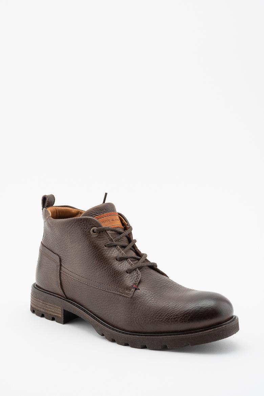 Členkové topánky - TOMMY HILFIGER WINTER SHEARLING LINING BOOT kávové