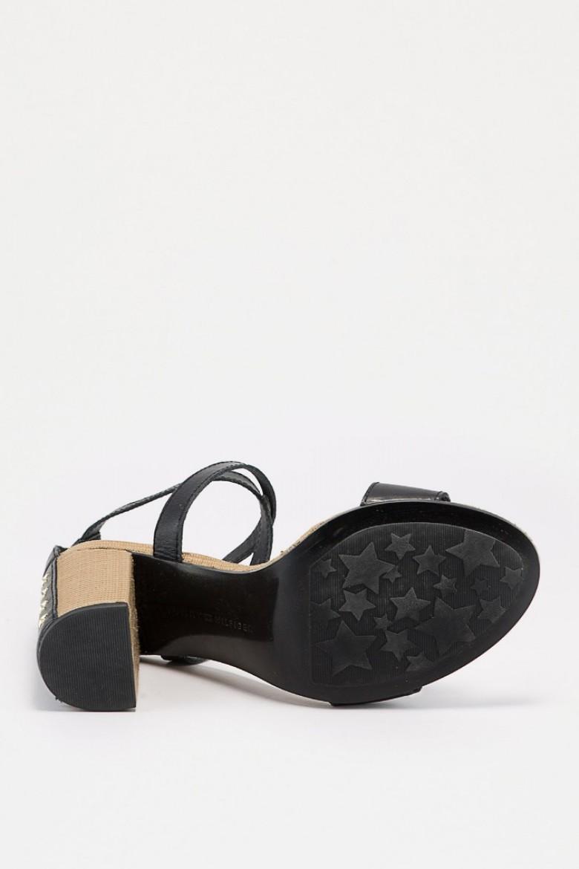 Sandále - TOMMY HILFIGER FEMININE HEEL SANDAL čierne
