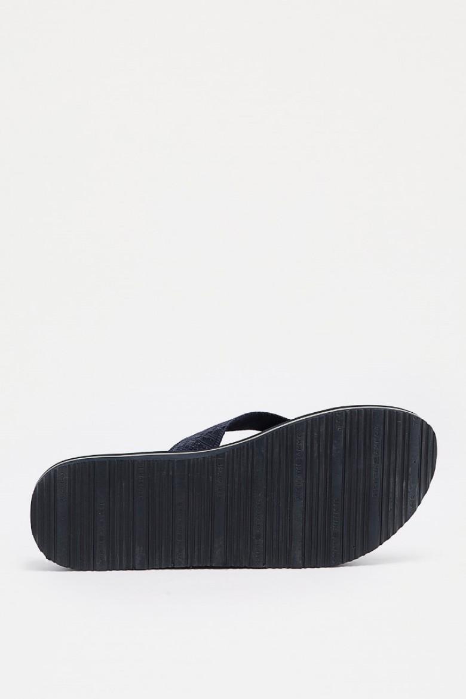 Plážová obuv - TOMMY HILFIGER JACQUARD LOW BEACH S modrá