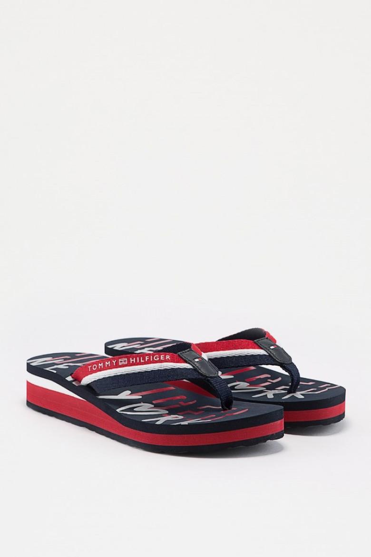 Plážová obuv - TOMMY HILFIGER TOMMY NY BEACH SANDA rôznofarebná
