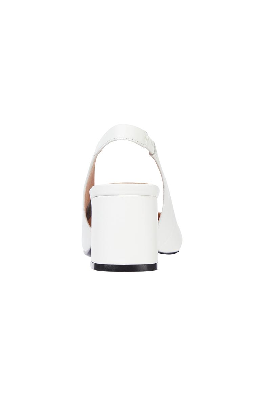 Lodičky - FEMININE SLING BACK PUMP biele