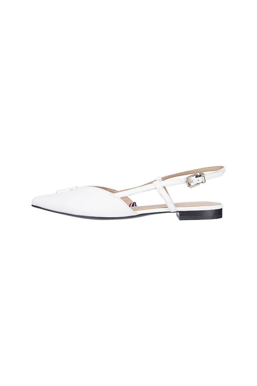 Sandále - FEMININE POINTED BALLERINA biele