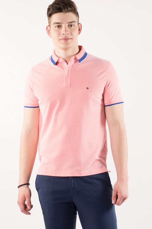 Polo tričko - TOMMY HILFIGER OXFORD TIPPED SLIM POLO ružové   e1f5e434651