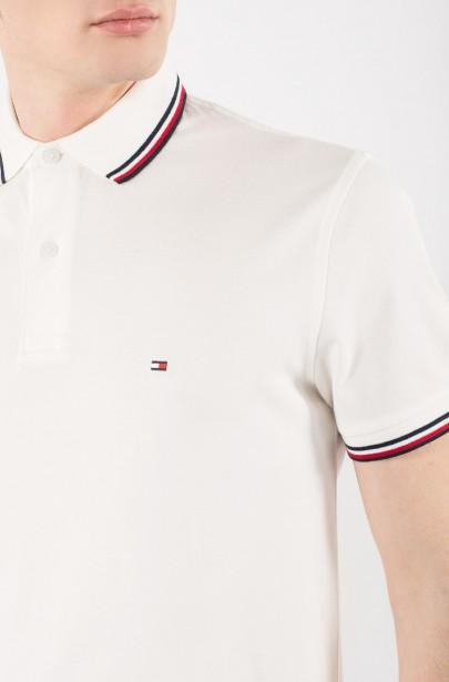 ... Polo tričko - TOMMY HILFIGER TOMMY TIPPED REGULAR biele 22f1cca10f3