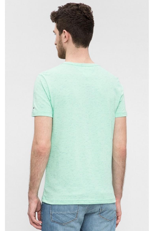 Tričko - Tommy Hilfiger COTTON SLUB GRAPHIC TEE zelené