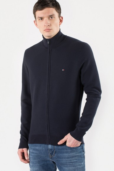 Sveter - TOMMY HILFIGER PERFORMANCE COTTON Z modrý