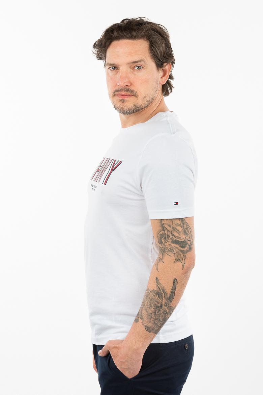 Tričko - TOMMY HILFIGER THNY CORP STRIPE TEE biele