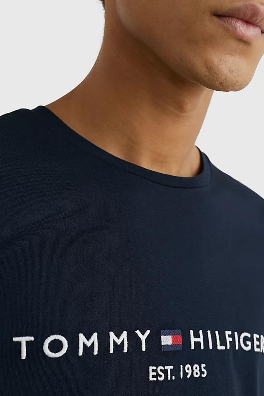 Tričko - TOMMY HILFIGER TOMMY LOGO TEE tmavomodro-čierne