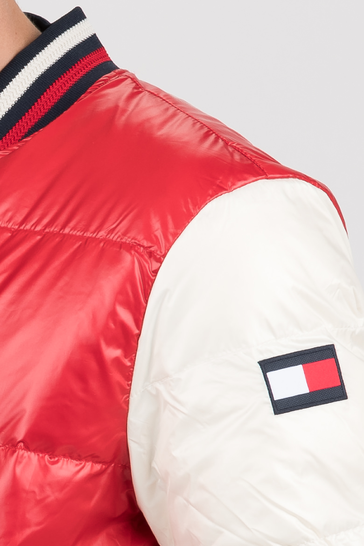 Bunda - VARSITY BOMBER červeno-biela