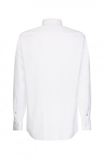 Pánska košeľa NATURAL SOFT END ON END SHIRT bielej farby