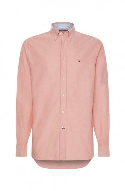 Pánska košeľa ORGANIC OXFORD SHIRT ružovej farby