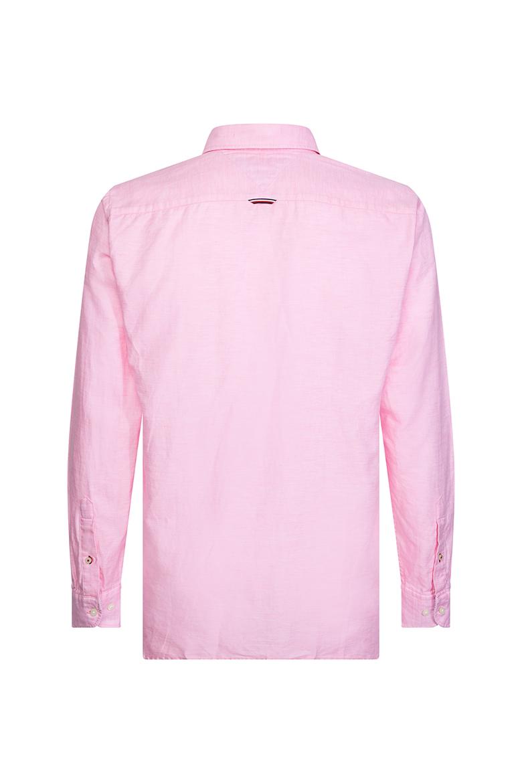 Pánska košeľa COTTON LINEN TWILL SHIRT ružovej farby