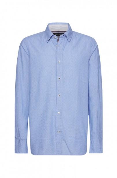 Pánska košeľa SLIM HOUNDSTOOTH DOBBY SHIRT modrej farby