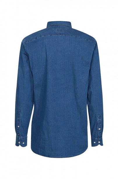 Pánska košeľa ORGANIC STRETCH DENIM SHIRT modrej farby